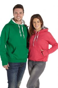Ultimate Contrast 2 Tone Hoodie Adults from